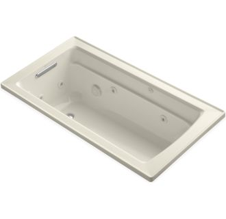 Kohler K 1122 47 Almond Archer Collection 60 Quot Drop In Jetted Whirlpool Bath Tub With