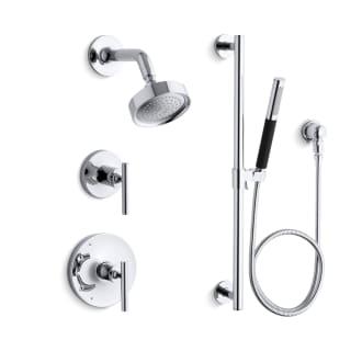 K purist shwr bndl hs cp in polished chrome by kohler for Kohler hands free bathroom faucet