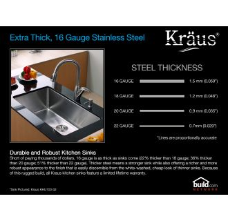 Kraus Khf203 33 Kpf1602 Ksd30ch Stainless Steel Chrome