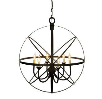 Miseno Sbu155241oz Oil Rubbed Bronze 6 Light Cage Orb Chandelier