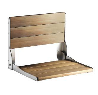 Moen Csidn7110 Solid Teak Wood Wall Mounted Wood Shower