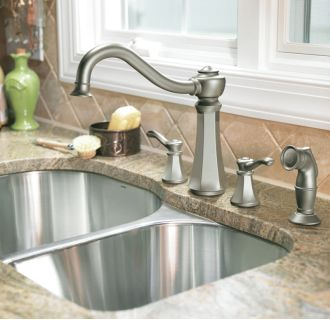 Moen 7068csl Classic Stainless Double Handle Kitchen
