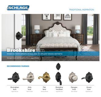 Schlage F51ageo505brk Lifetime Polished Brass Georgian