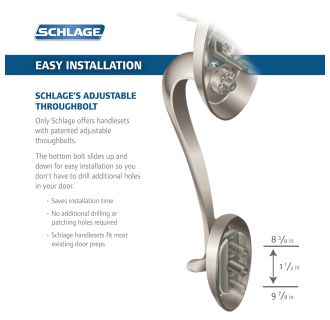 Schlage Fe365ply716flarh Aged Bronze Right Handed Plymouth