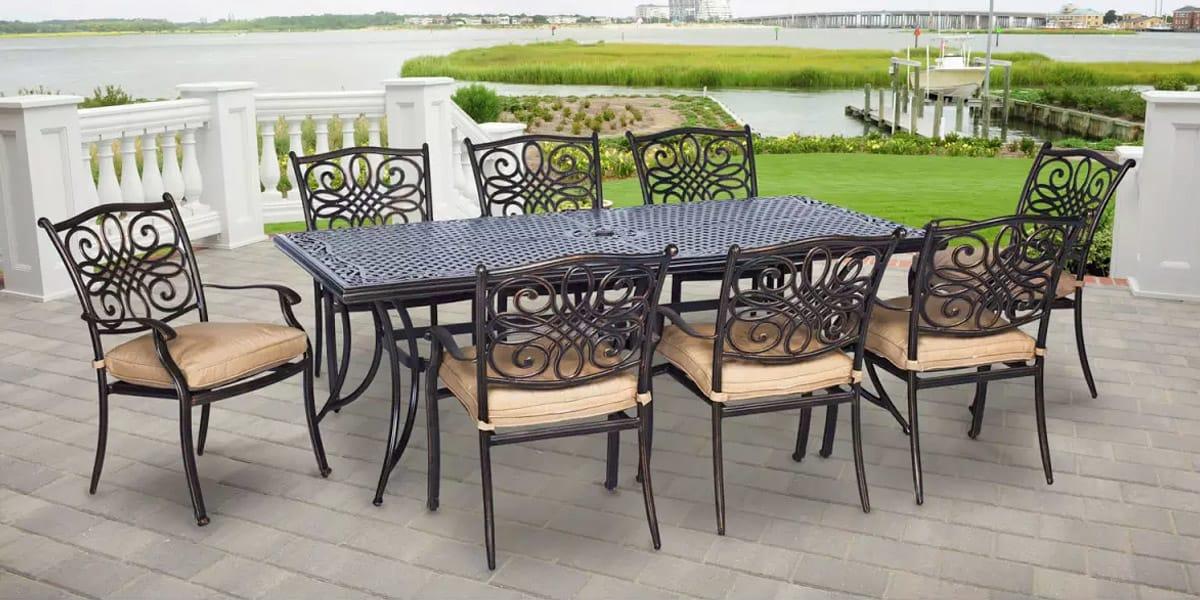 Cast Aluminum Patio Furniture, Cleaning Rod Iron Outdoor Furniture