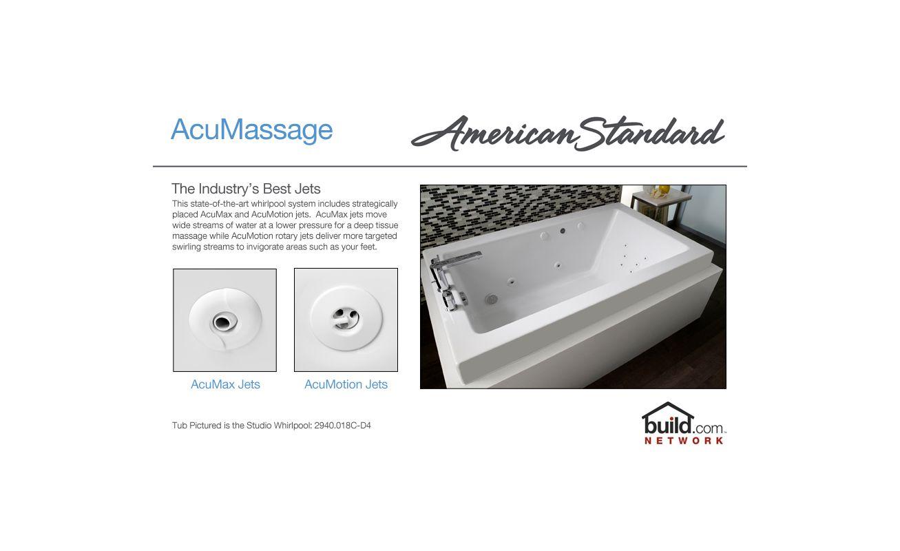 American Standard 2772018W020 White Cadet 60 Acrylic Whirlpool