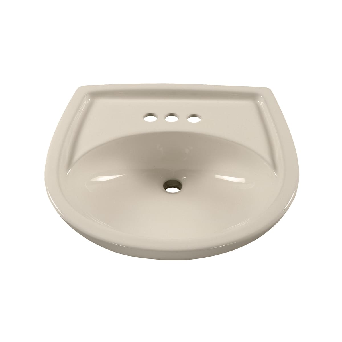American Standard 0115 404 173 Shell Colony Pedestal Sink Only With 4 Centers 21 1 4 Length And Overflow Faucet Com