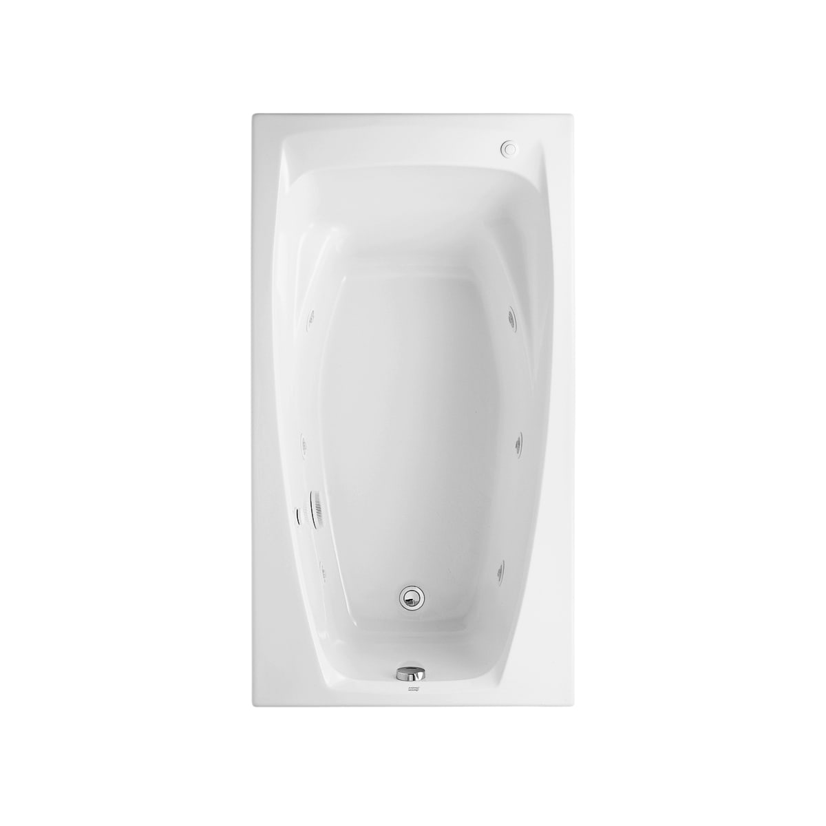 American Standard 2675018020 White Colony 60 Acrylic Whirlpool Urinal Wiring Diagram Bathtub With Reversible Drain And Acumassage Jets