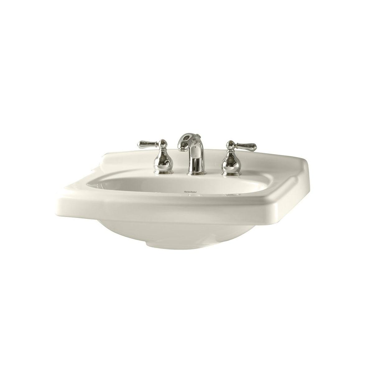American Standard 0555.104.020 White Portsmouth Pedestal Sink Only ...