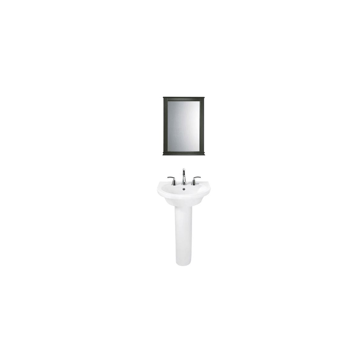 American Standard Tropic Luxury Room-C White/Polished Chrome/Dark ...