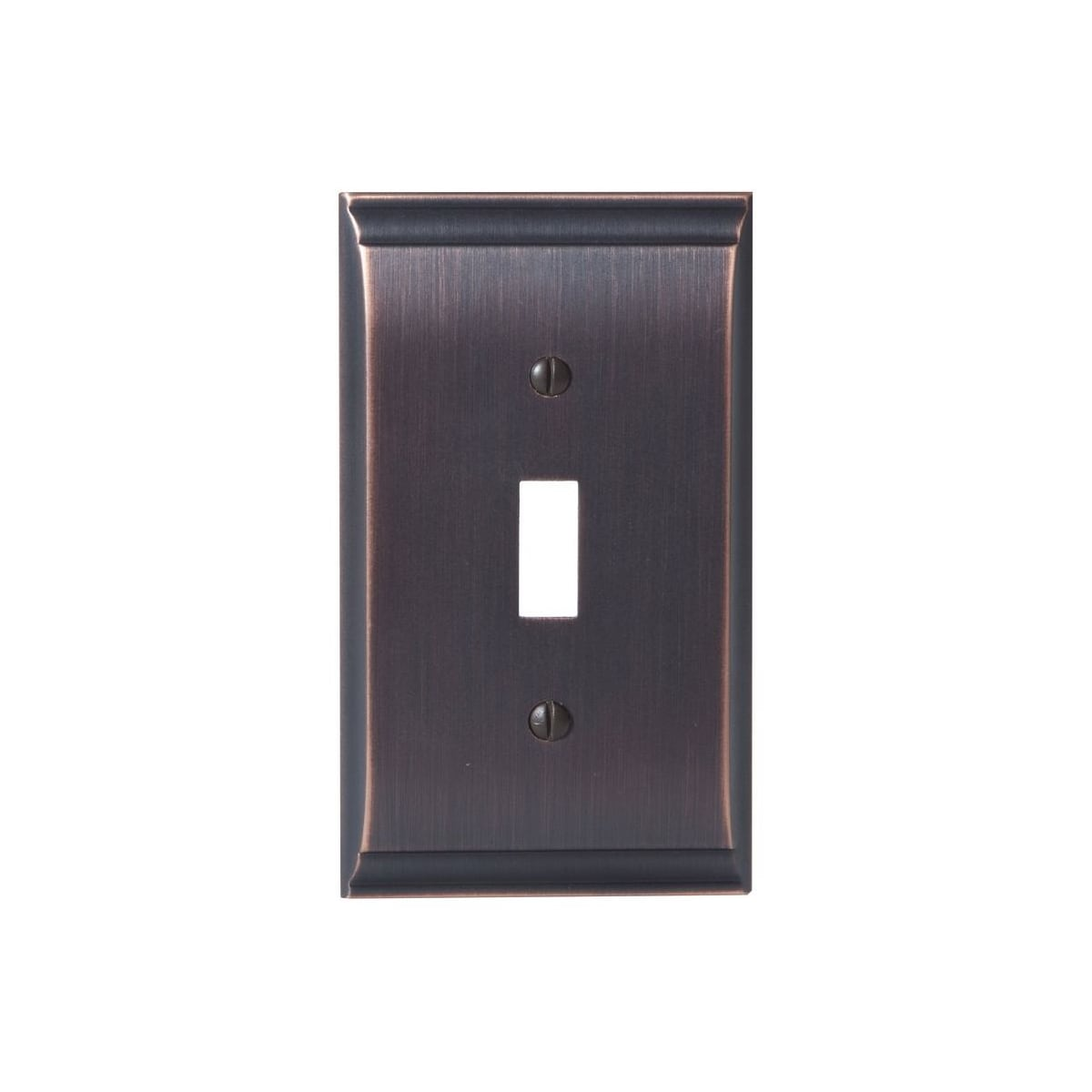 Amerock Bp36500orb Oil Rubbed Bronze Candler Single Toggle Switch Plate Pullsdirect Com