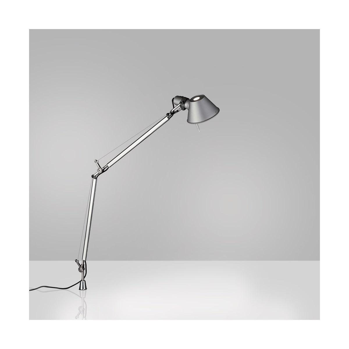 Artemide Usc Tol0082 Aluminum 3000k 80cri Tolomeo Single Light 19 11 16 Tall Integrated Led Swing Arm Table Lamp With Aluminum In Set Pivot Lightingshowplace Com
