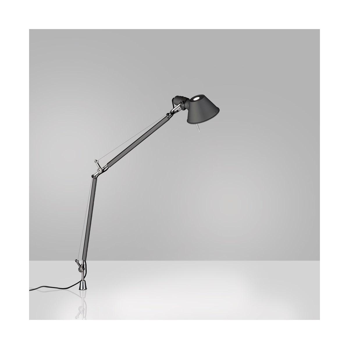 Artemide Usc Tol0083 Anthracite Grey 3000k 80cri Tolomeo Single Light 19 11 16 Tall Integrated Led Swing Arm Table Lamp With Aluminum In Set Pivot Lightingshowplace Com