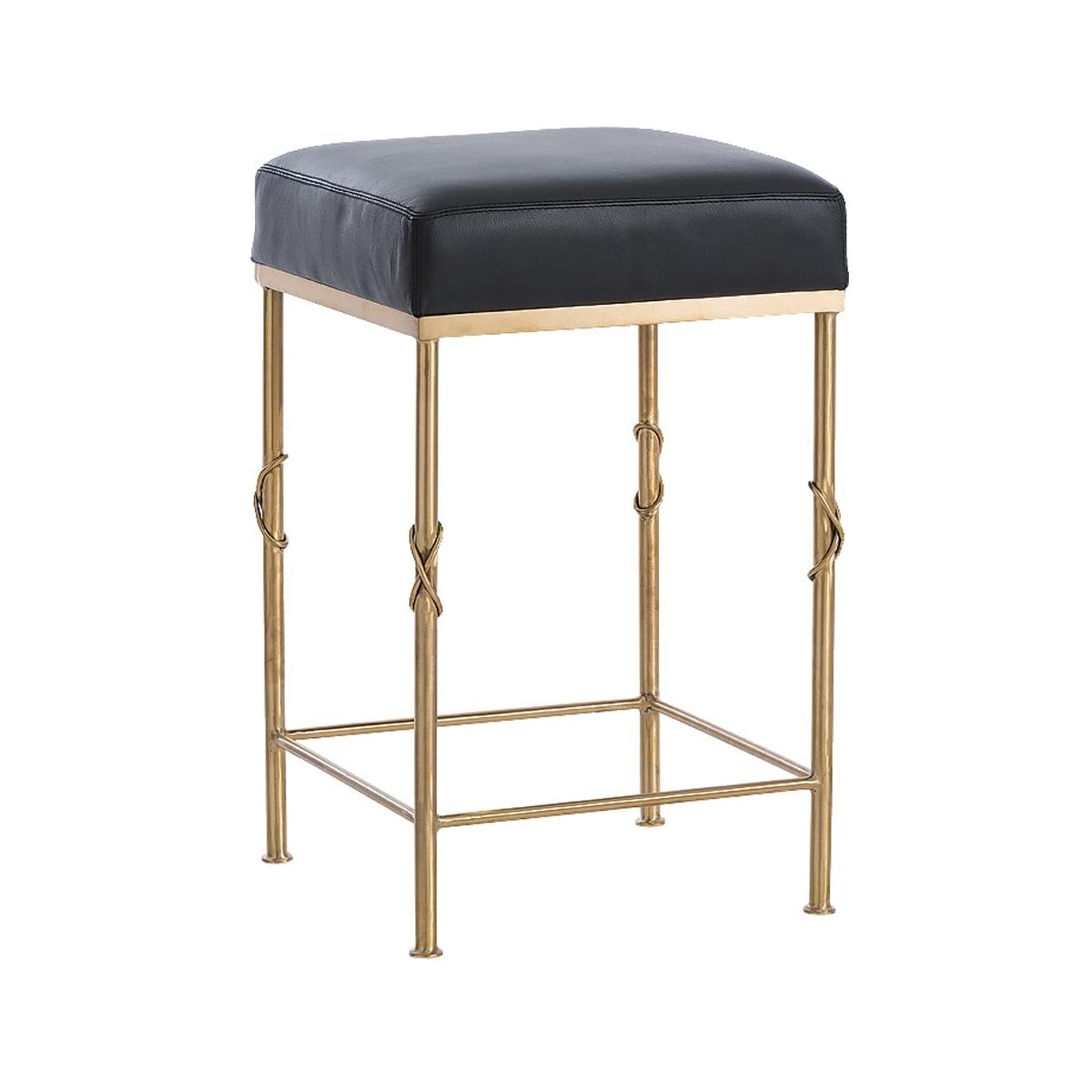 Astonishing Arteriors 6994 Brushed Brass Palmer 24 Inch Tall Leather Bar Evergreenethics Interior Chair Design Evergreenethicsorg