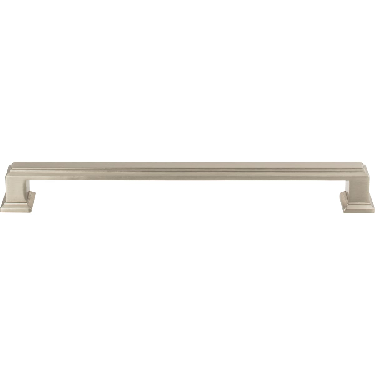 Atlas Homewares 293 Brn Brushed Nickel Sutton Place 7 9 16 Inch Center To Center Handle Cabinet Pull Pullsdirect Com