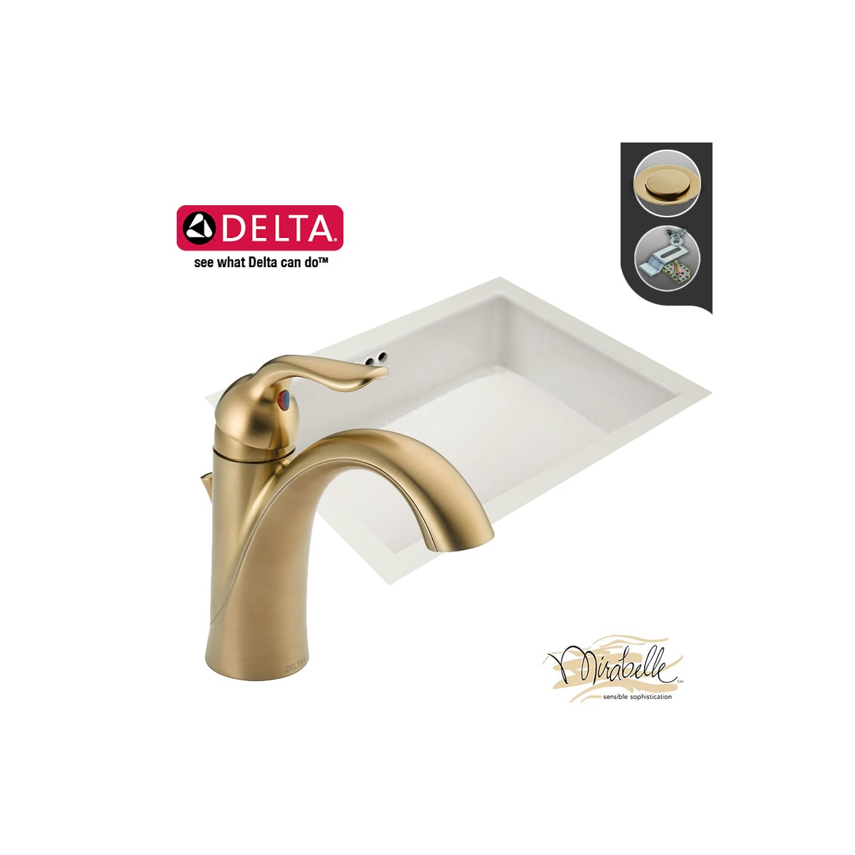 Build Smart Kits Undefined Stainless Steel Faucet Combo Mirabelle Lahara Two Handle Center Set Bathroom Parts Diagram Model 538 17 1 8 Porcelain Undermount Sink With Delta Single Hole And Drain