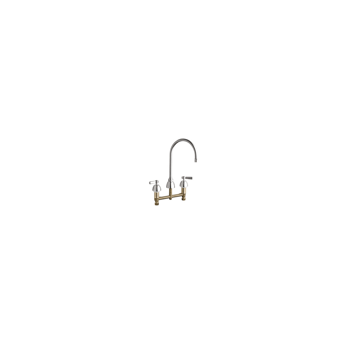 Chicago Faucets 201 Agn8ae2805fab Chrome Commercial Grade High Arch Kitchen Faucet With Lever Handles 8 Centers Eco Friendly Flow Rate