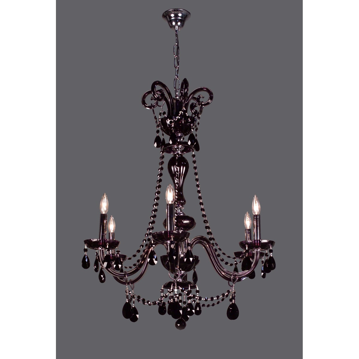 Classic Lighting 82016 Cbk Crystalique Black 35 Crystal Chandelier From The Monte Carlo Elite Collection Lightingdirect Com