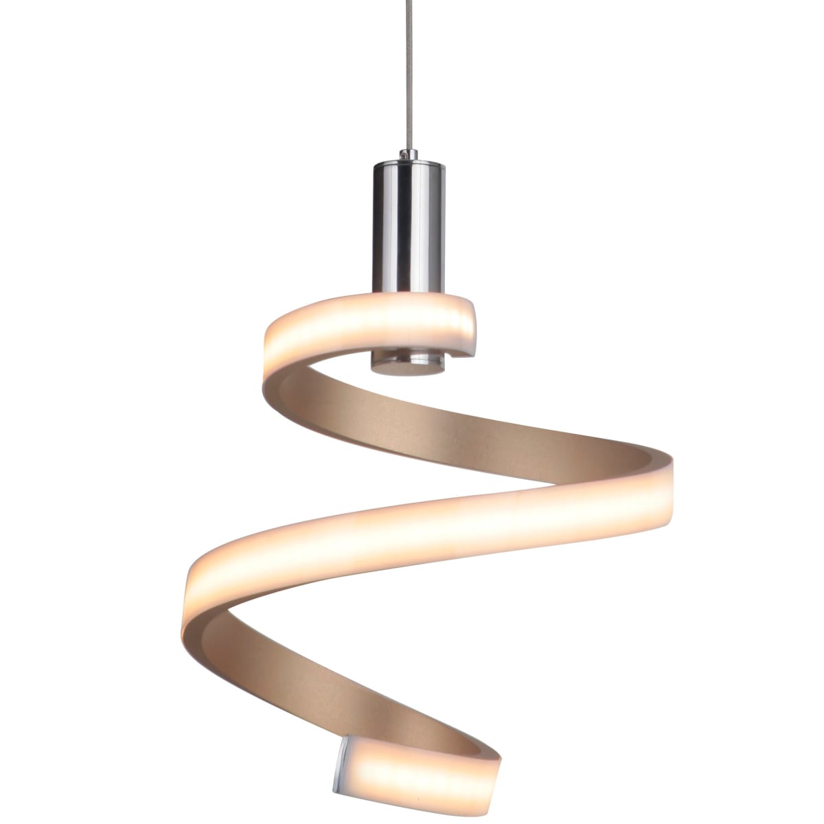 Craftmade Single Light Integrated LED Mini Pendant (Matte Gold)
