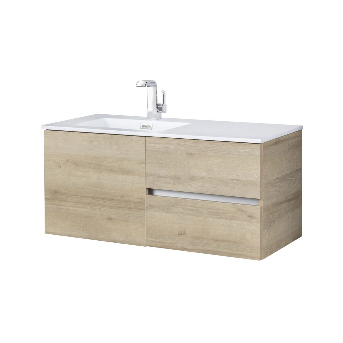 Cutler Kitchen And Bath Fv Bw Organic42 Organic Beachwood 42 Wall Mounted Floating Single Vanity Set With Acrylic Vanity Top Faucet Com