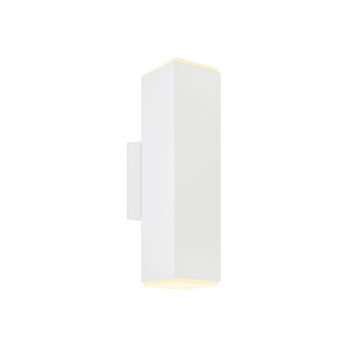 Image of: Dals Lighting Ledwall B Wh White 12 Tall 2 Light Led Outdoor Wall Sconce With Adjustable Beam Options Lightingshowplace Com