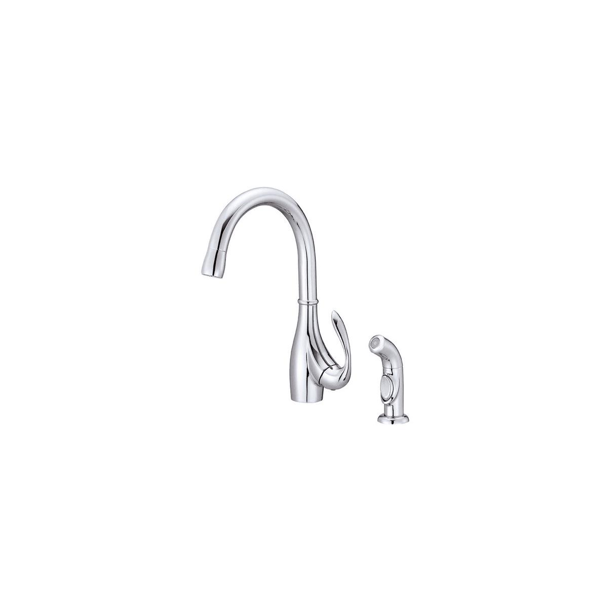 Danze D401546 Chrome Kitchen Faucet Includes Side Spray