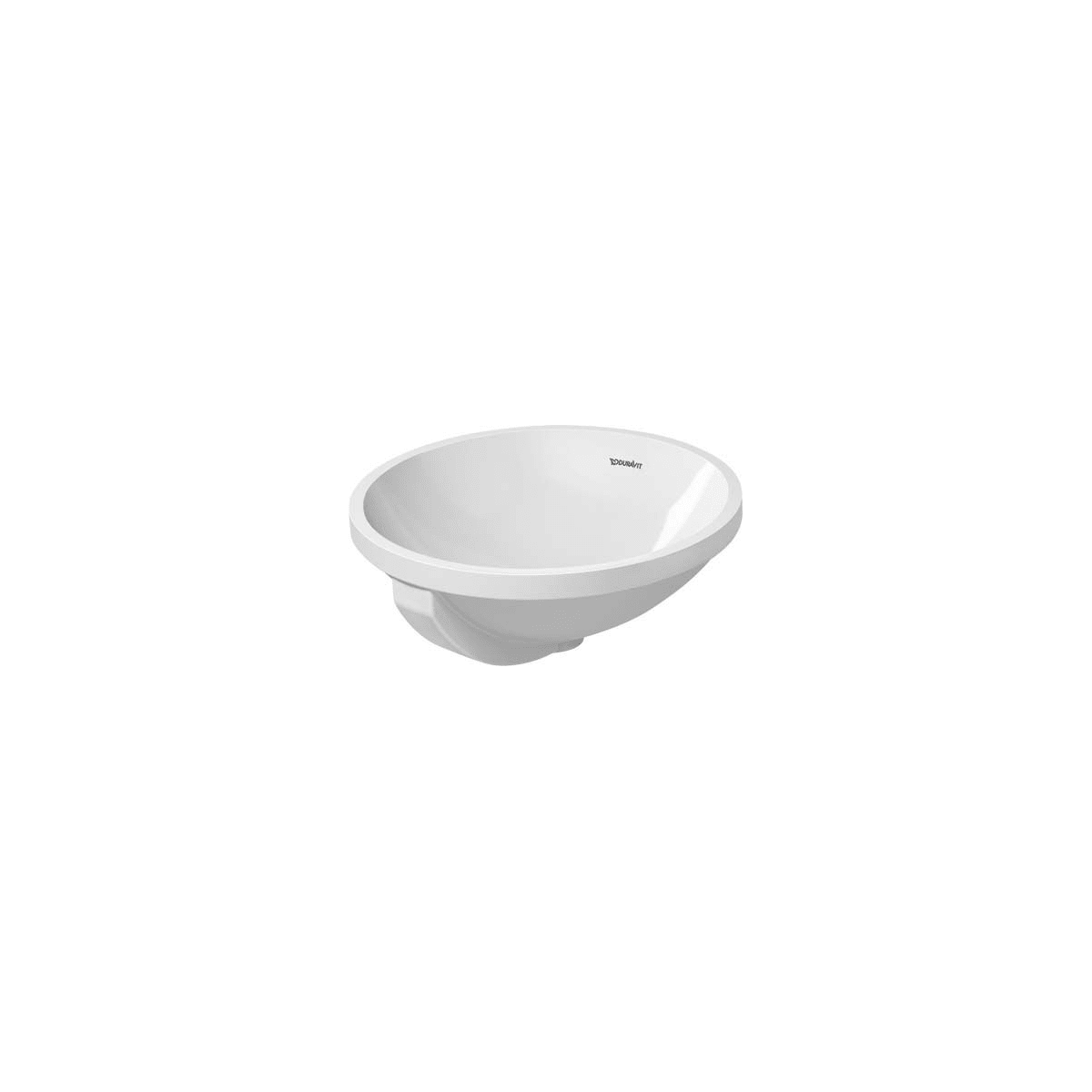 Duravit 04684000001 White With Wondergliss Glazed Underside Architec 15 3 4 Circular Ceramic Undermount Bathroom Sink With Overflow Faucet Com