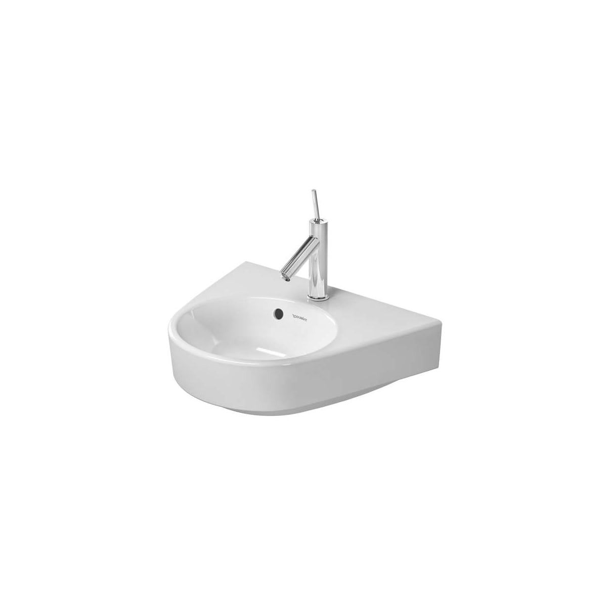 Duravit 0714500000 White Glazed Underside Starck 2 19 5 8 Specialty Ceramic Wall Mounted Bathroom Sink With Overflow And 1 Faucet Hole Faucet Com