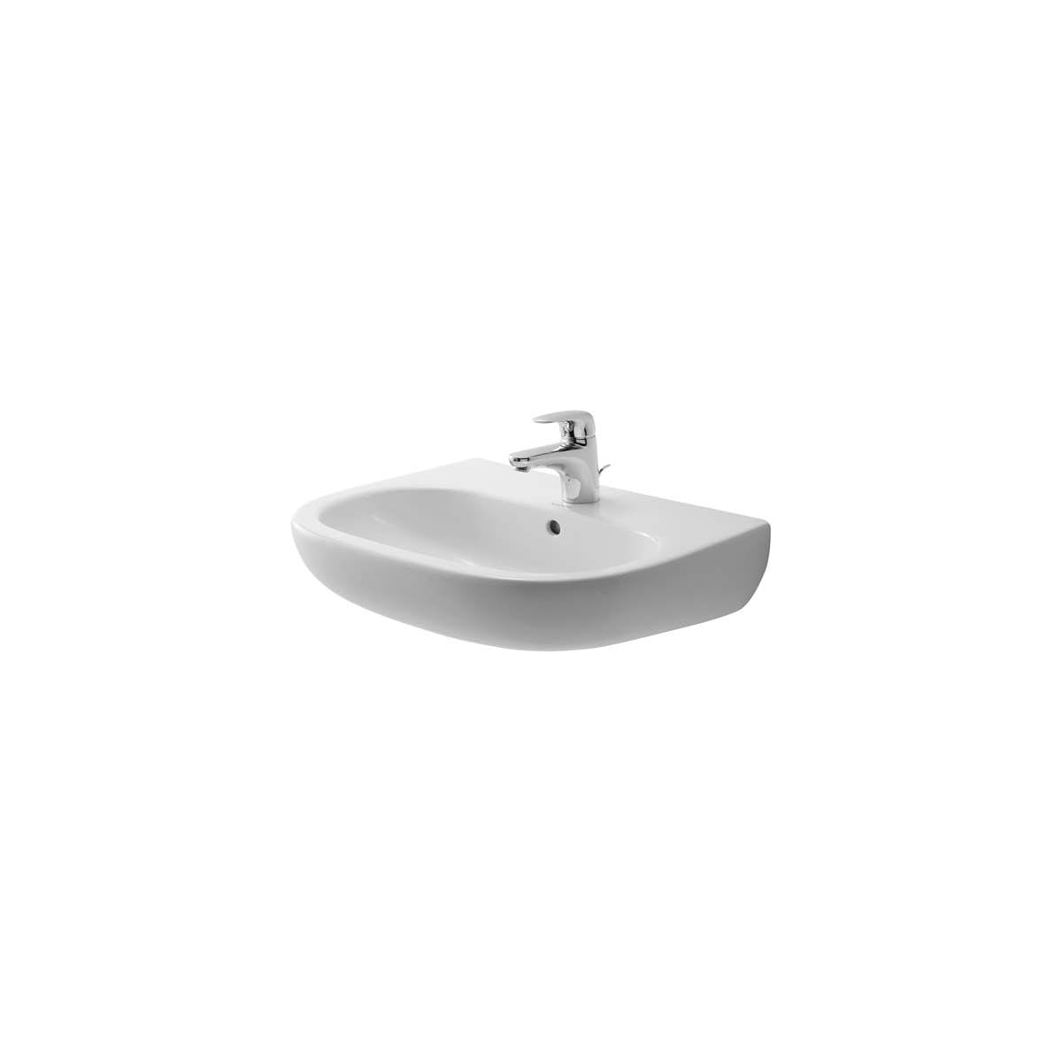Duravit 23105500002 White Glazed Underside D Code 21 5 8 Specialty Ceramic Wall Mounted Bathroom Sink With Overflow And 1 Faucet Hole Faucet Com