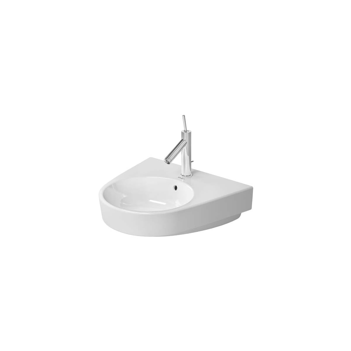 Duravit 2323550030 White Glazed Underside Starck 2 21 5 8 Specialty Ceramic Wall Mounted Bathroom Sink With Overflow And 3 Faucet Holes At 8 Centers Faucet Com