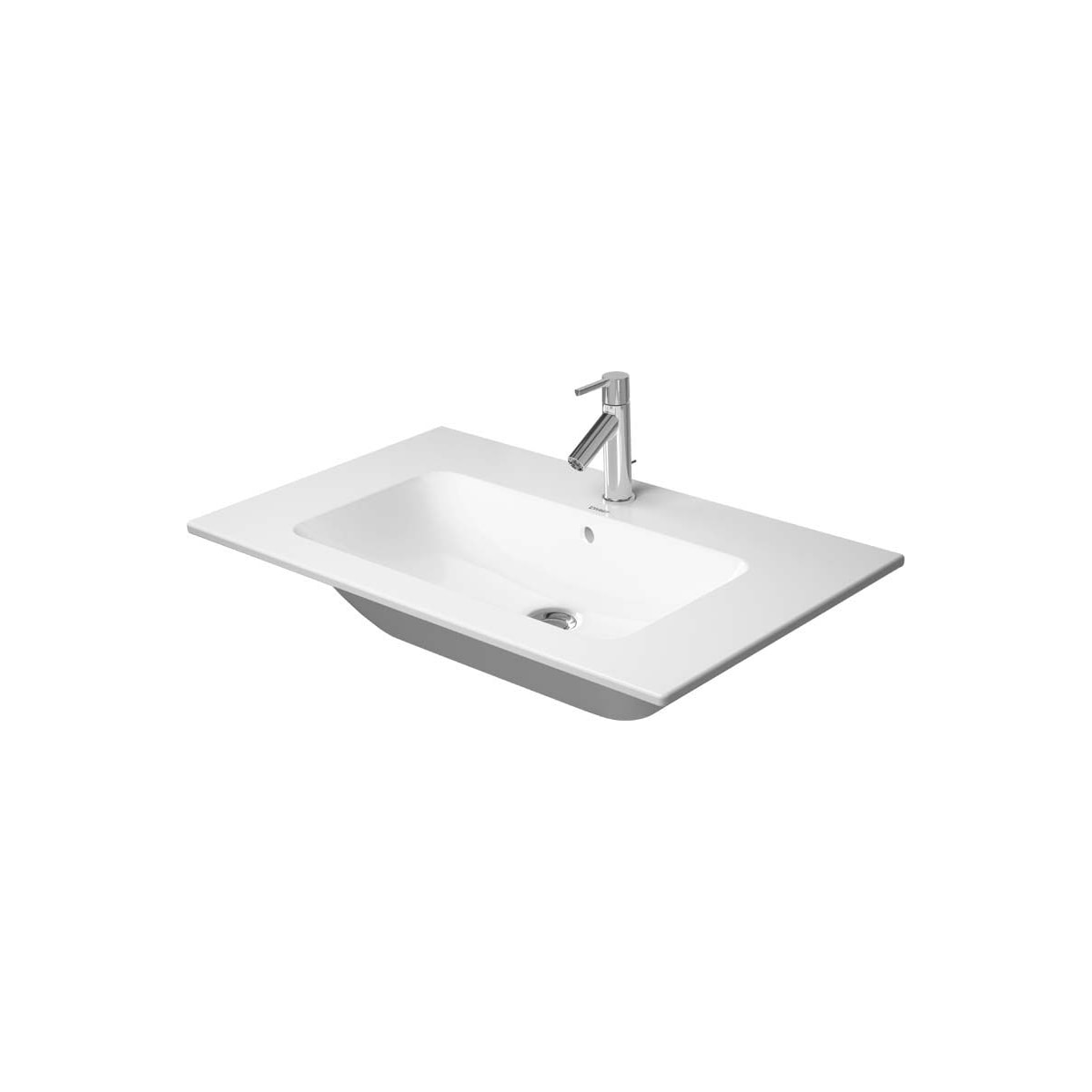 Duravit 2336830000 White Me By Starck 33 Ceramic Vanity Top With 1 Faucet Hole Faucet Com