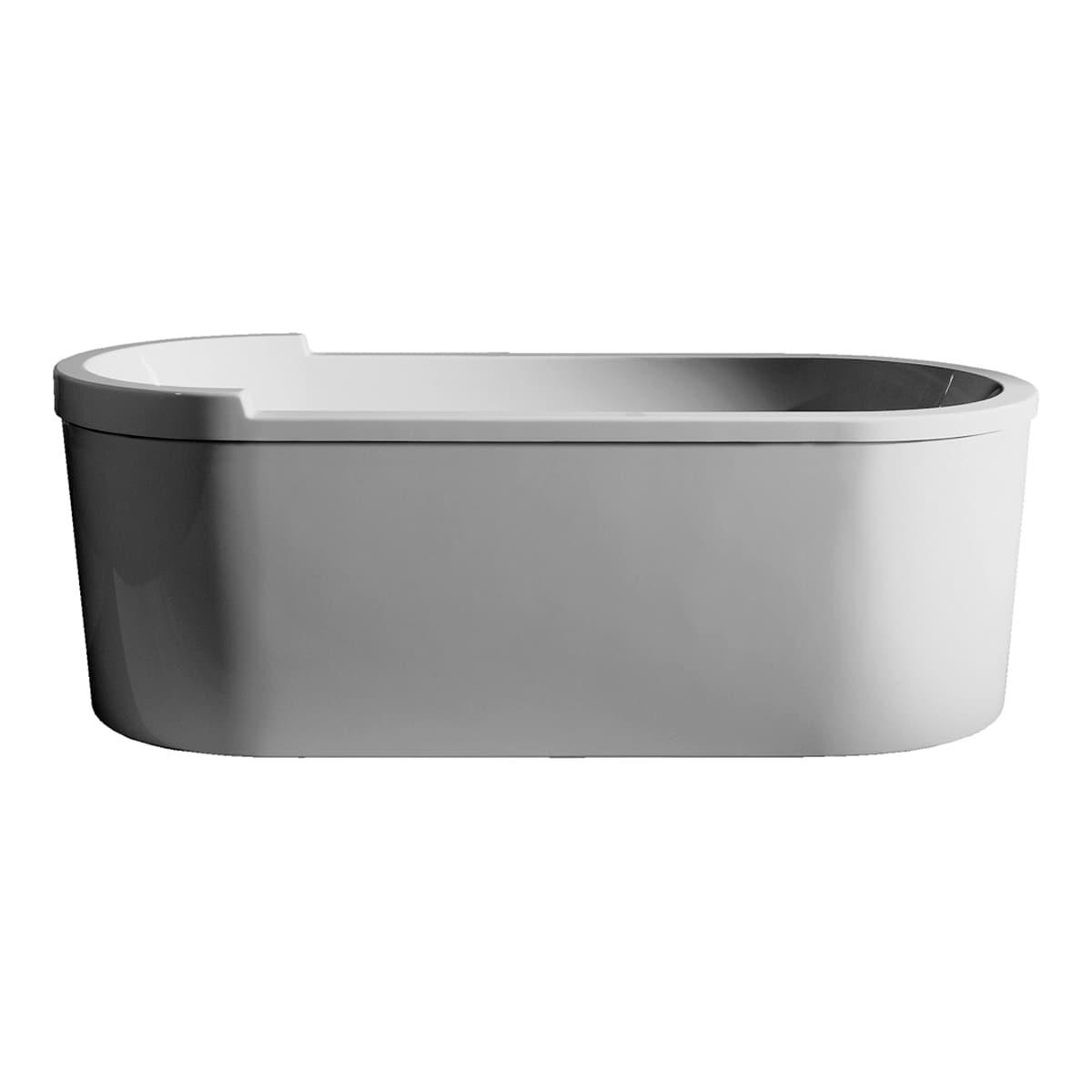 Duravit 700010000000090 White Happy D.2 Freestanding Bathtub with ...