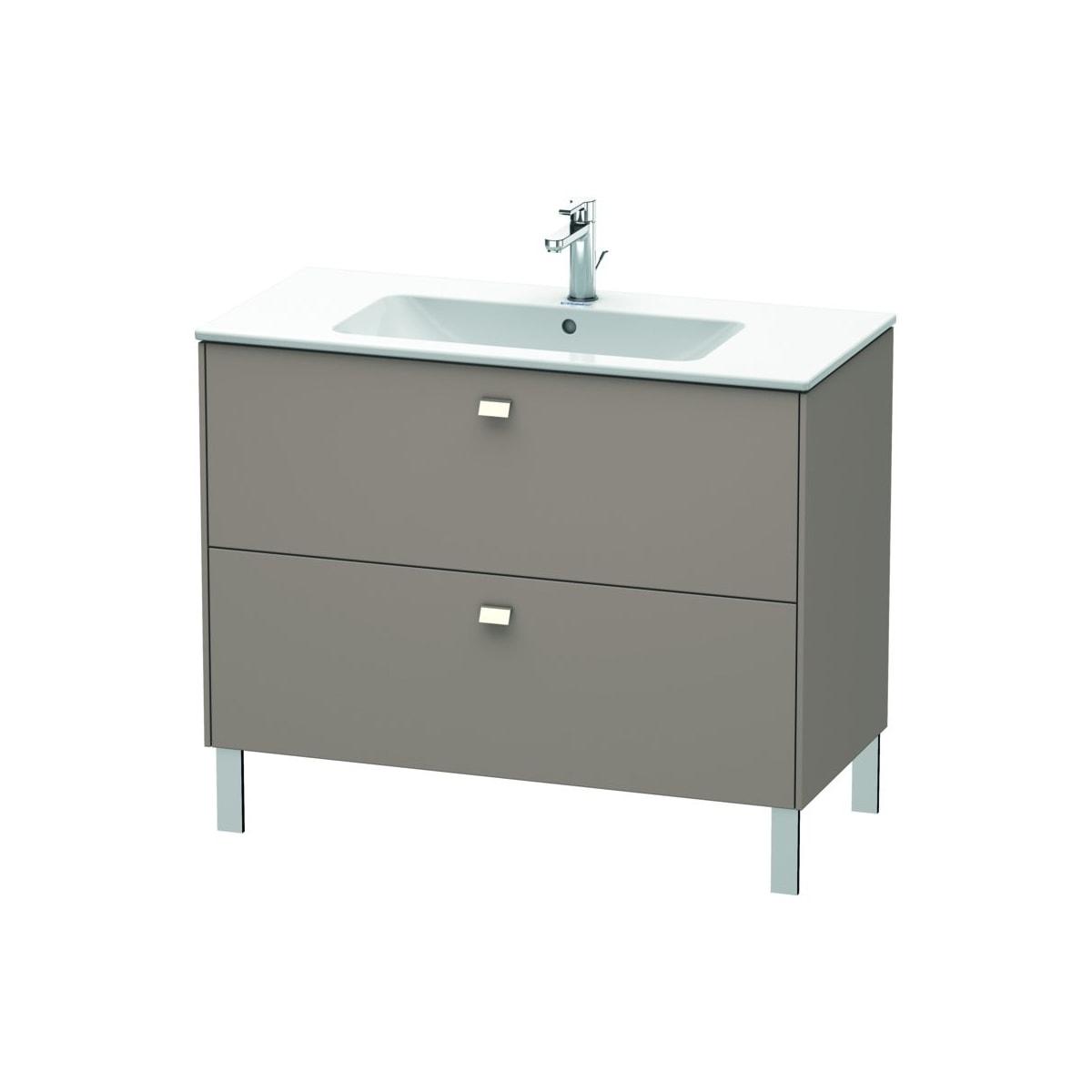Duravit Br440301052 Chrome European Oak Brioso 40 Single Free Standing Wood Vanity Cabinet Only Less Vanity Top Faucet Com