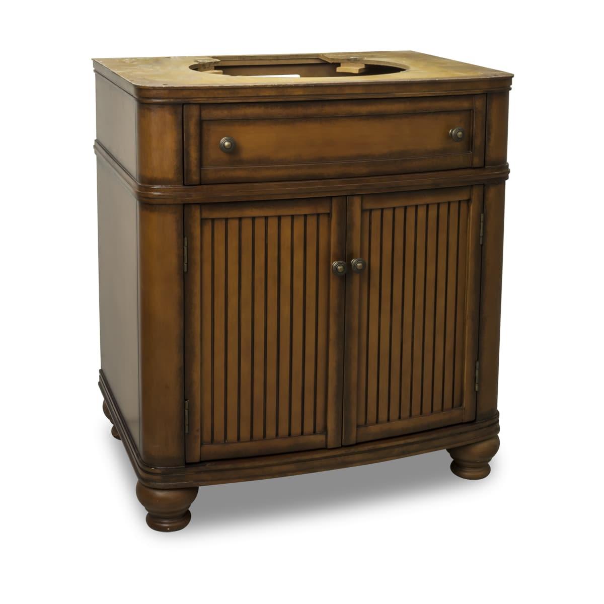 Elements Van029 Nt Painted Walnut, 30 Inch Bathroom Vanity Cabinet Only