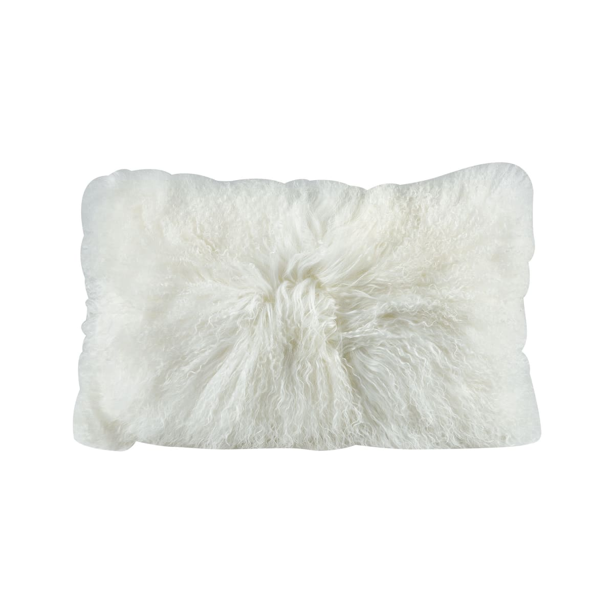 Elk Home 5227 004 White Apres Ski Solid Lamb Fur Covered Polyester Filled Throw Pillow Lightingdirect Com