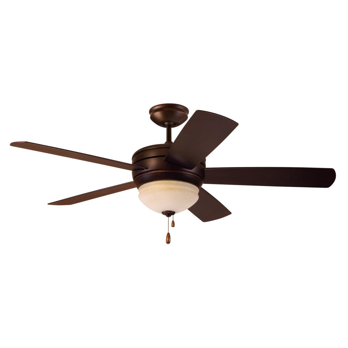 Emerson Cf850vnb Venetian Bronze Summerhaven 52 5 Blade Indoor Outdoor Ceiling Fan Light Kit Included Lightingshowplace Com