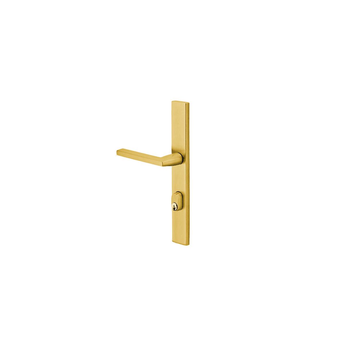6 in Flat Black Emtek Brass Surface Mounted Security Bolt with Concealed Screws