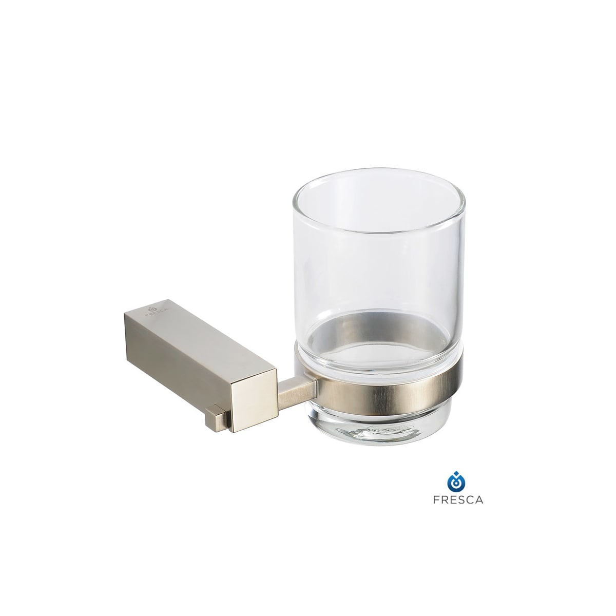 Fresca Fac0410bn Brushed Nickel Ottimo 4 25 Wide Wall Mounted Tumbler Holder Faucetdirect Com