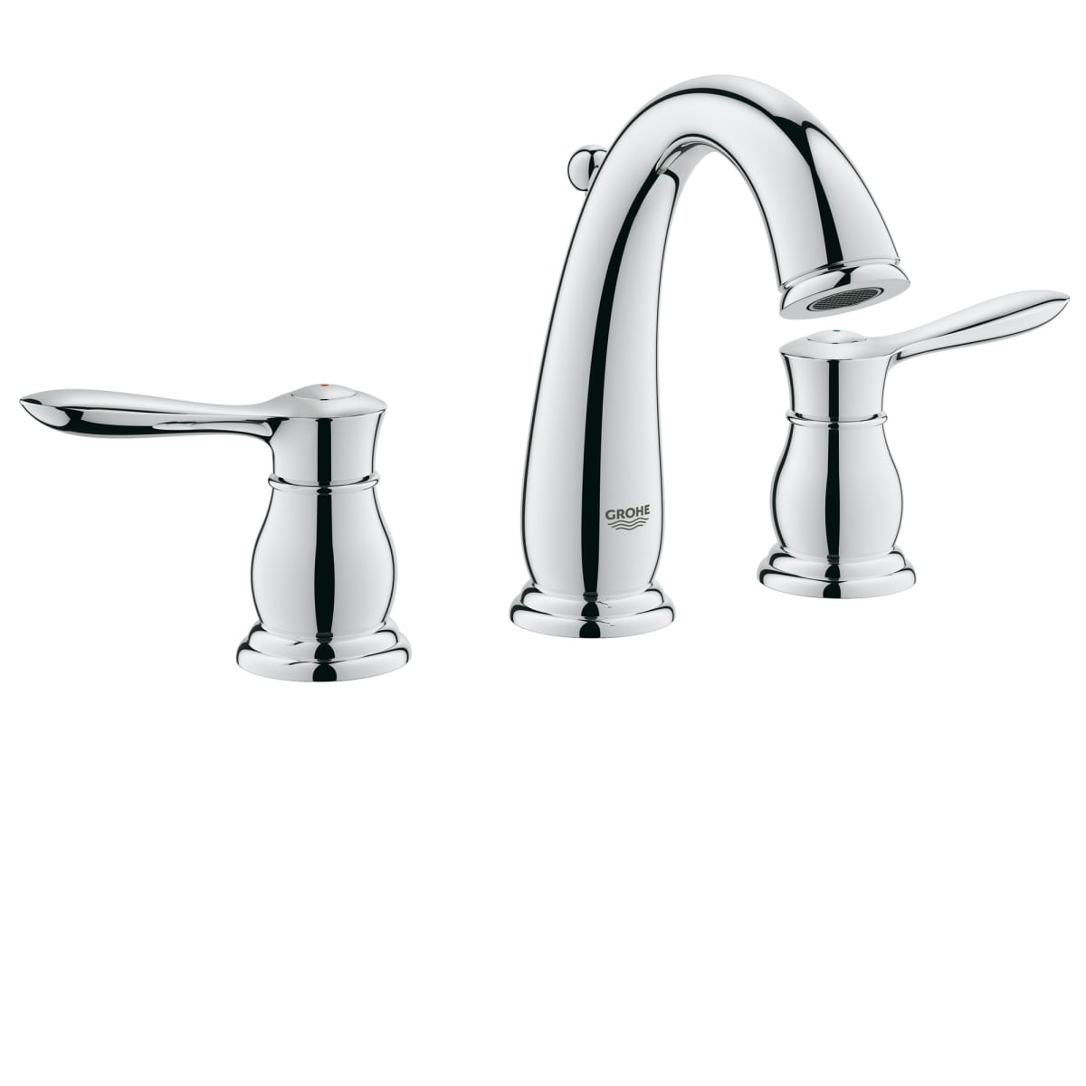 Grohe 2039000a Starlight Chrome Parkfield 1 2 Gpm Widespread Bathroom Faucet With Silkmove And Quickfix Technologies Free Metal Pop Up Drain Embly