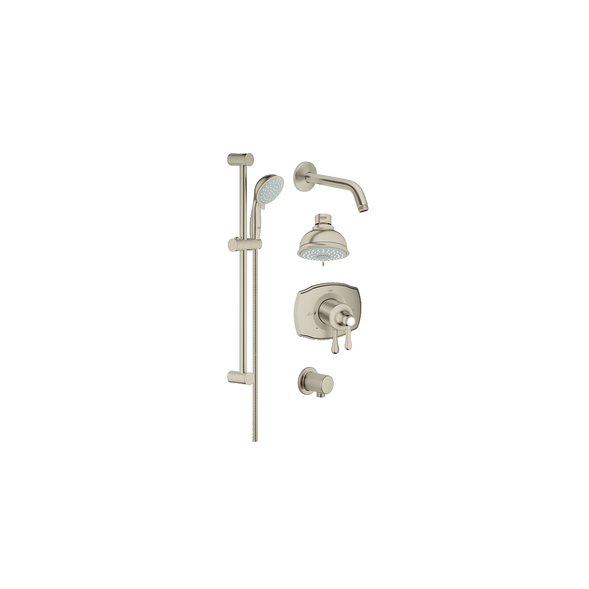 Grohe 35053en0 Brushed Nickel Grohflex Pressure Balanced