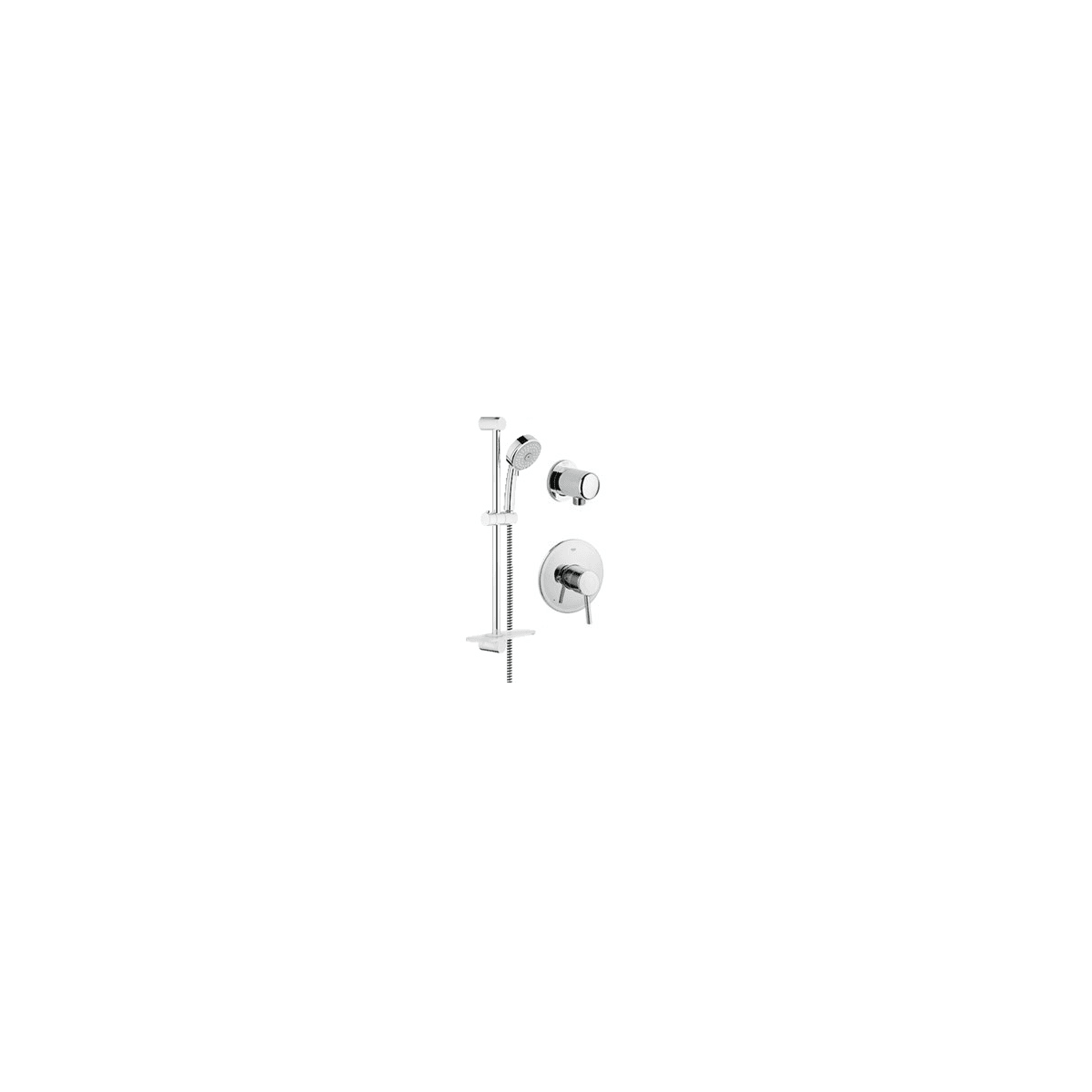 Grohe Gr Pb010sc Starlight Chrome Concetto Pressure Balanced Shower