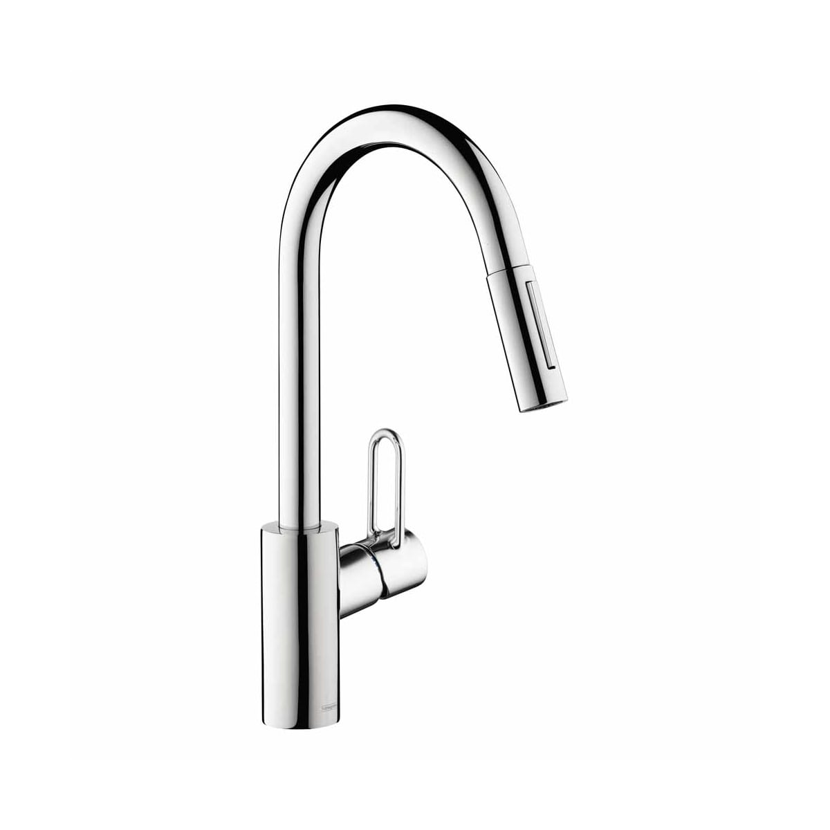 Hansgrohe 04701005 Chrome Talis Loop Single Handle Pull-Down Kitchen ...