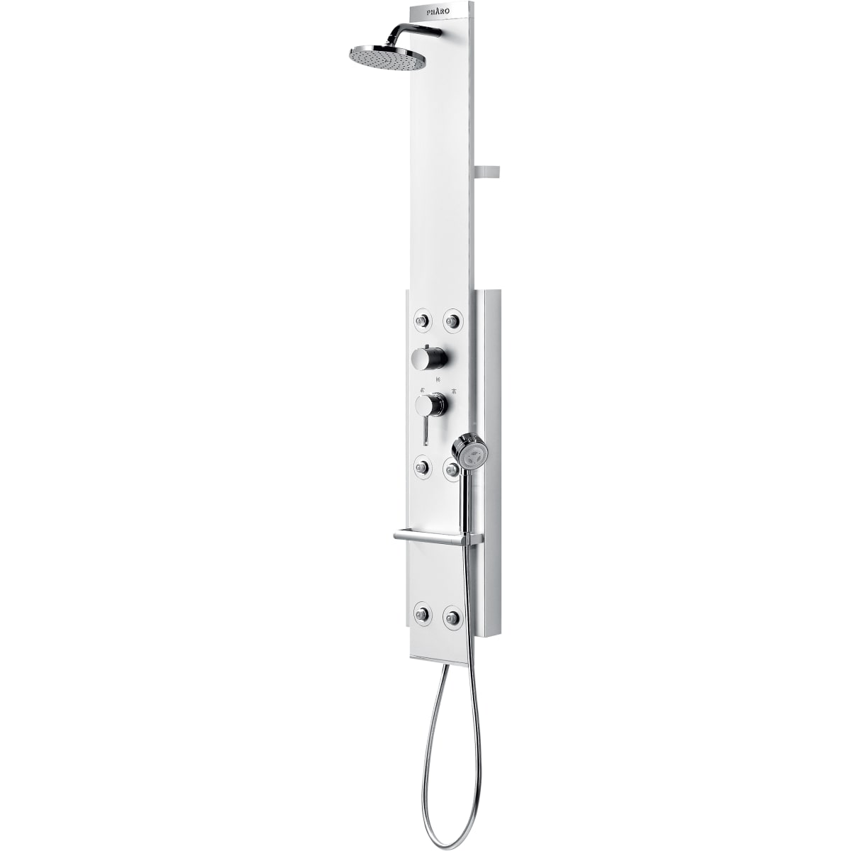 Hansgrohe 26871001 Chrome ShowerPower Shower Panel Satin Chrome with ...
