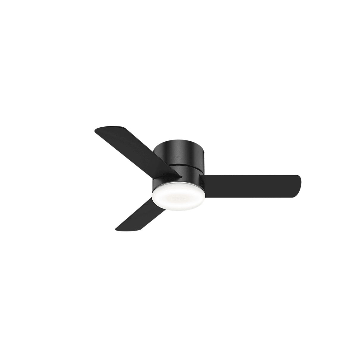 Hunter 59453 Matte Black Minimus 44 Hugger Ceiling Fan With Ac Induction Motor Remote Control And Led Light Kit Included Lightingdirect Com