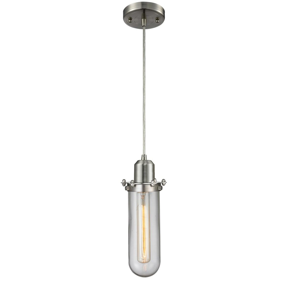 Lighting 228 Sn Cl Brushed Satin Nickel