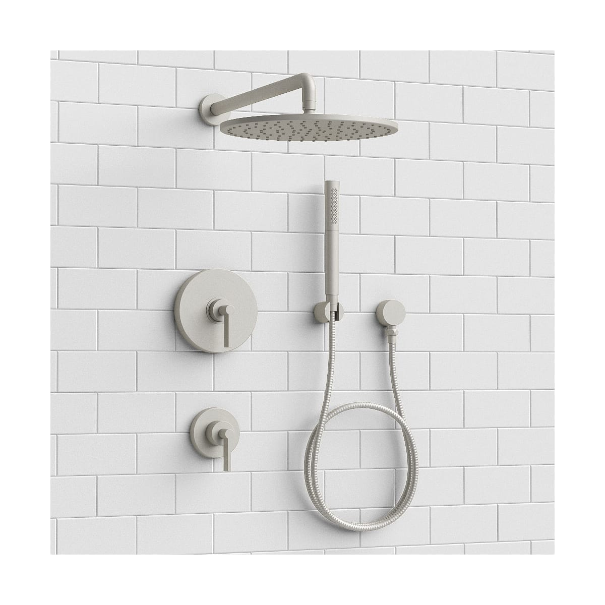 Kallista One Showersystem Rain Hs Ag Brushed Nickel One