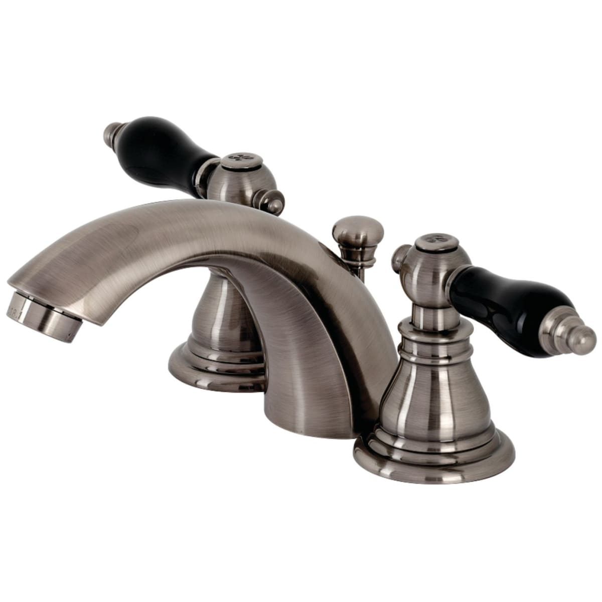 Kingston Brass Kb953akl Black Stainless Duchess 1 2 Gpm Widespread Bathroom Faucet With Pop Up Drain Assembly Faucet Com