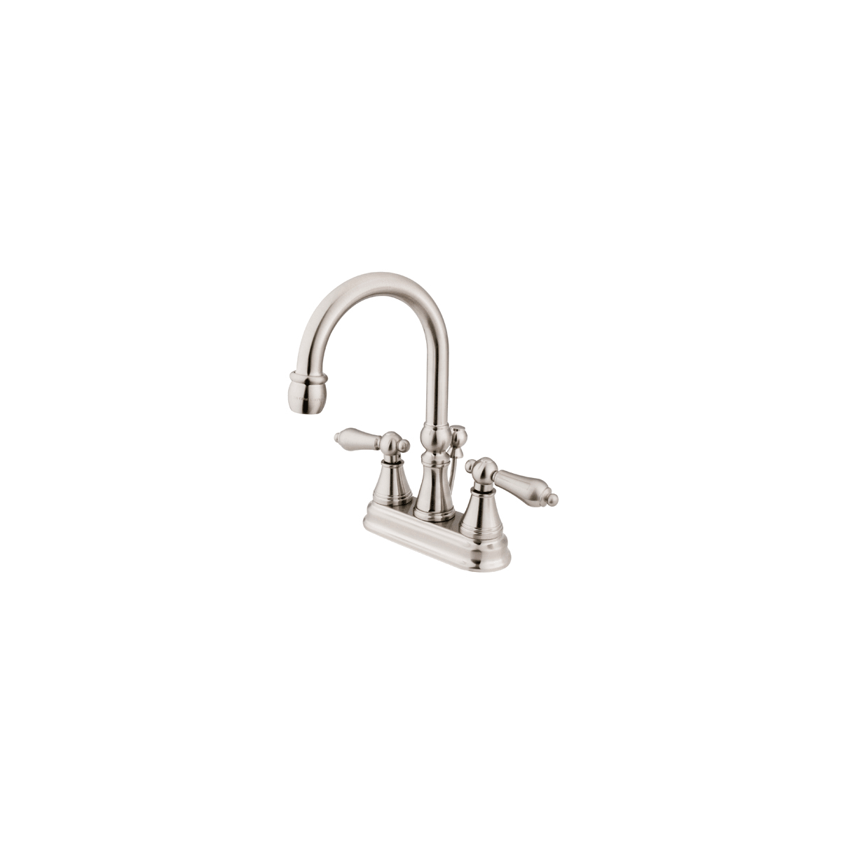Kingston Brass Ks2618al Satin Nickel Governor Centerset Bathroom Faucet With Brass Pop Up Drain Assembly And Metal Lever Handles