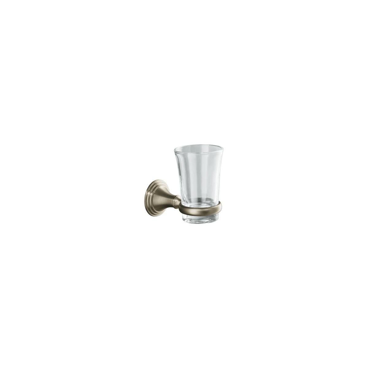 Vibrant Polished Brass KOHLER K-10561-PB Devonshire Tumbler and Toothbrush Holder