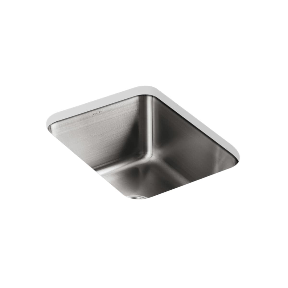 Kohler K 3163 Na Stainless Steel Single Basin Stainless Steel Kitchen Sink From The Undertone Series Faucet Com